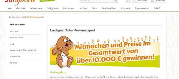 Jungborn Oster-Gewinnspiel Goldschmuck und Gutscheine