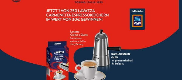 Lavazza Gewinnspiel 250 Espressokocher