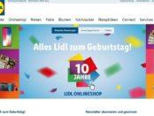 Lidl Onlineshop Geburtstags-Gewinnspiel Apple iPhone uvm.