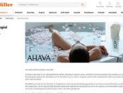 Müller Gewinnspiele AHAVA Bade- und Duschsets
