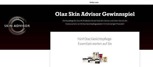 Olaz Skin Advisor Gewinnspiel for me online