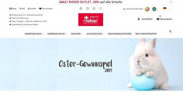 Oster Gewinnspiel Rieker Schuhe 1 Jahr Schuh Abo gewinnen