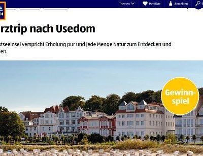 Reise-Gewinnspiel Aldi Süd Usedom Kurzurlaub