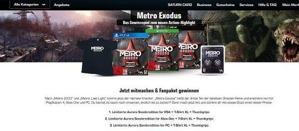 Saturn Gewinnspiele Metro Exodus Fanpakete Verlosung