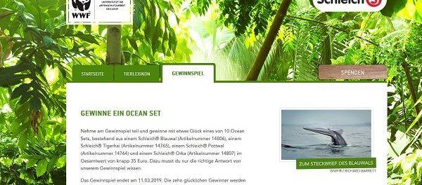 Schleich WWF Gewinnspiel 10 Ocean Figuren Sets