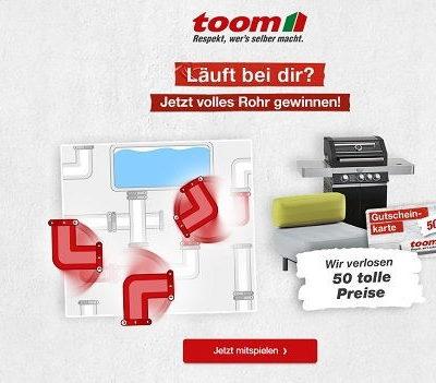Toom Baumarkt Gewinnspiel Gasgrill und Gutscheine