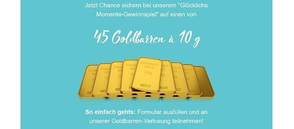 Adler Mode Gewinnspiel 45 Goldbarren gewinnen