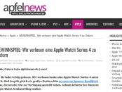 Apfelnews Oster-Gewinnspiel Apple Watch Series 4 Verlosung