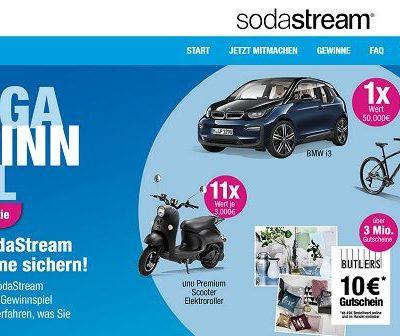 Auto-Gewinnspiel Sodastream BMW i3 Elektroauto