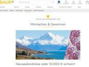 Baur Versand Gewinnspiel Neuseelandreise oder 10.000 Euro Bargeld