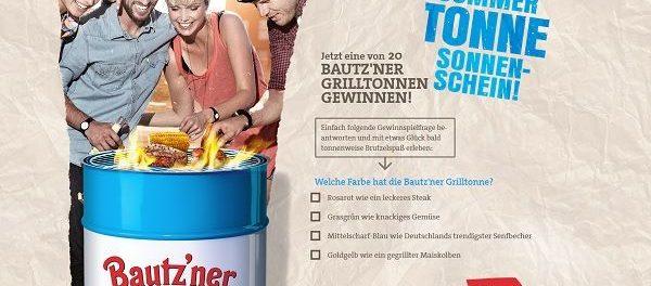 Bautzner Senf Gewinnspiel 20 Grilltonnen