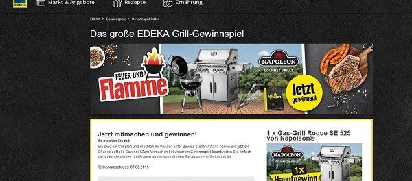 Edeka Grill Gewinnspiel Gas-Grill und weitere Sachpreise