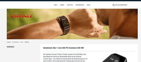 Engbers Gewinnspiele 300 Soehnle Fitness-Tracker