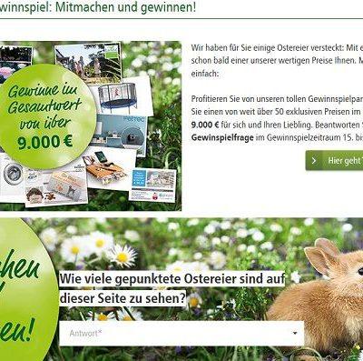 Fressnapf Oster-Gewinnspiel Bosch Waschmaschine uvm.