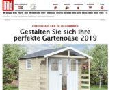 Gartenhaus Gewinnspiel Bild und Gartentiger