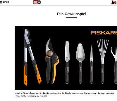 Gartenwerkzeug Gewinnspiel Bild.de und Fiskars