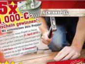 Geld-Gewinnspiel Sonderpreis Baumarkt 15 mal 1.000 Euro