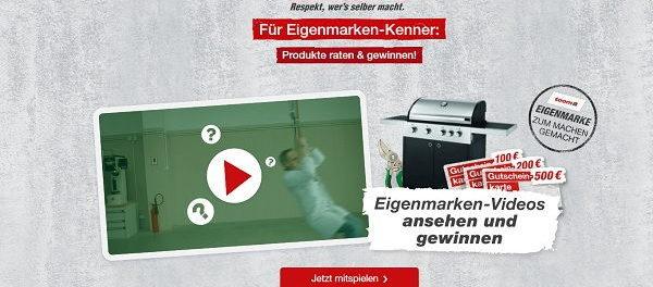 Gewinnspiel toom Baumarkt Eigenmarken Gutscheine und Sachpreise