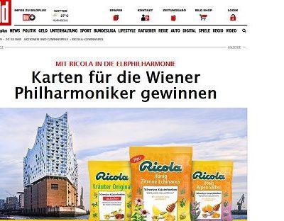 Hamburg Elbphilarmonie Gewinnspiel Ricola und Bild.de