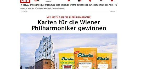 Hamburg Elbphilharmonie Gewinnspiel Ricola und Bild.de