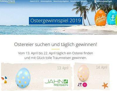 HolidayCheck Ostergewinnspiel 2019 11 Reisen zu gewinnen