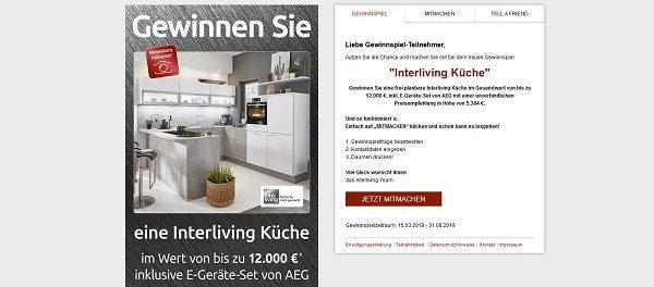 Küchen Gewinnspiel Interliving 12.000 Euro Küche gewinnen