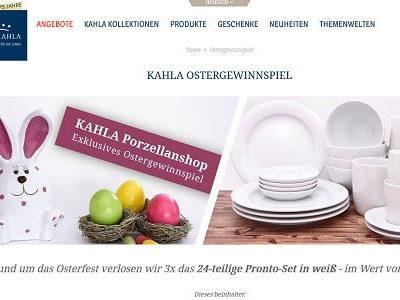 Kahla Ostergewinnspiel Porzellan Service Verlosung