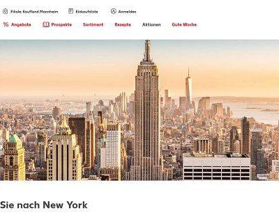 Kaufland Gewinnspiel New York Reise zu Zweit gewinnen