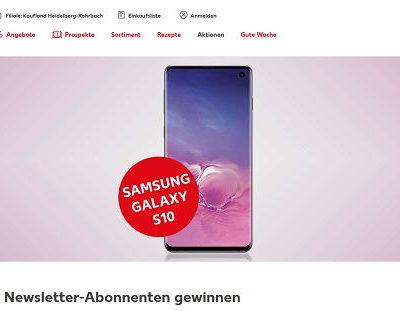 Kaufland Gewinnspiel Samsung Galaxy S10