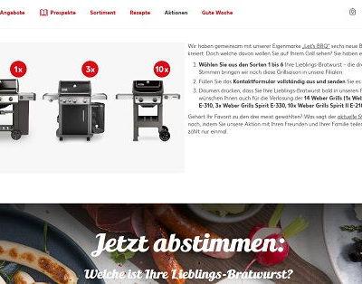 Kaufland Gewinnspiele Lieblings-Bratwurst Weber Grill