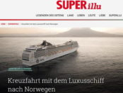 Luxus-Norwegen Kreuzfahrt Gewinnspiel Superillu und MSC