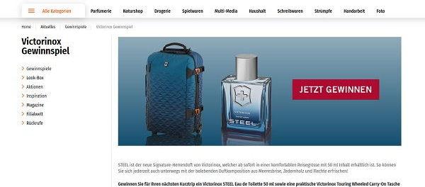 Müller Drogerie Gewinnspiel Victorinox Touring Wheeled Carry-On Tasche