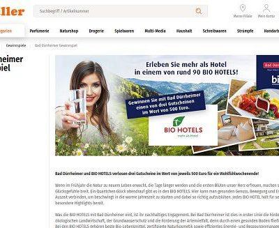 Müller Drogerien Gewinnspiel Bad Dürrheimer Bio Hotels Gutscheine