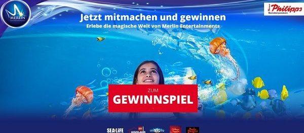 Merlin und Thomas Phillips Gewinnspiel Merlin-Jahreskarte für eine Familie