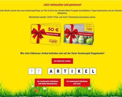 Netto Oster-Gewinnspiel Einkaufsgutscheine Verlosung