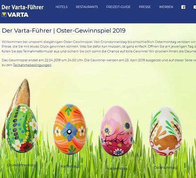 Oster-Gewinnspiel Varta-Führer 2019