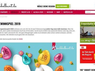 Oster-Kalender Gewinnspiel Kribbelbunt tägl. Gewinne