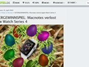 Ostergewinnspiel MacNotes verlost apple Watch Series 4