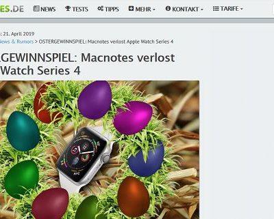 Ostergewinnspiel MacNotes verlost apple Watch Series 4