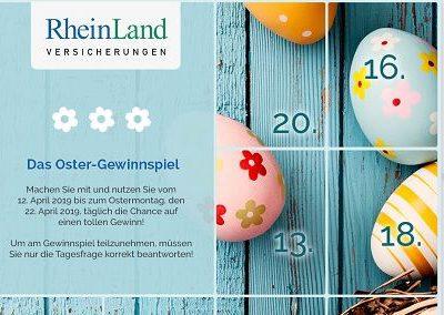 Ostergewinnspiel Rheinland Versicherungen Osterkalender 2019