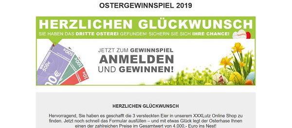 Ostergewinnspiel XXL Lutz Gutscheine gewinnen