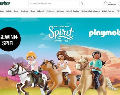 Playmobil Gewinnspiel Galeria Kaufhof Spirit-Sets