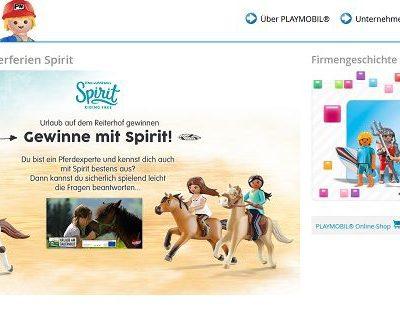 Playmobil Spirit Gewinnspiel Bauernhofurlaube und Spielzeuge