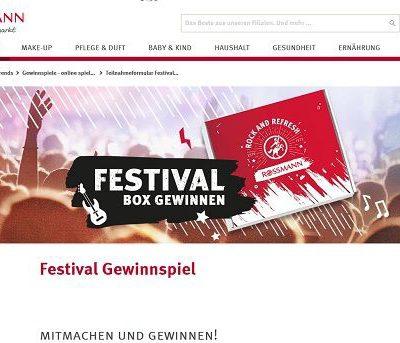 Rossmann Gewinnspiele 300 Festival Boxen