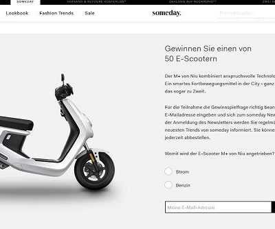 Someday Fashion Gewinnspiel 50 E-Scooter