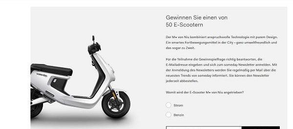 Someday Fashion Gewinnspiel 50 E-Scooter