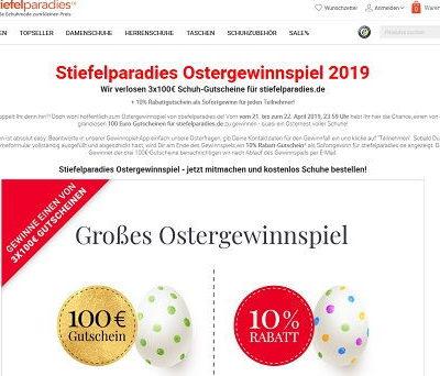 Stiefelparadies Oster-Gewinnspiel Gutscheine gewinnen