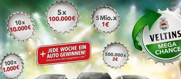 Veltins Kronkorken Gewinnspiel 2019 Mercedes oder Geld gewinnen