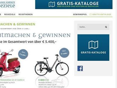 Vespa und E-Bike Gewinnspiel Deutschlands schönste Reiseziele