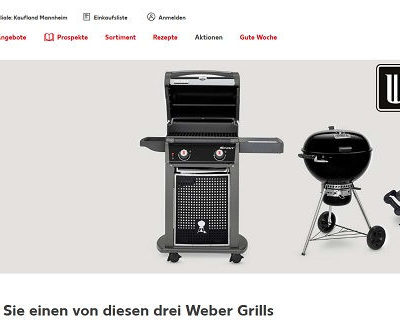 Weber Grill Gewinnspiel Kaufland Wunschgrill gewinnen